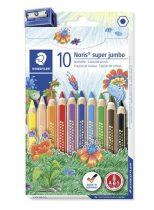 """STAEDTLER Színes ceruza készlet, hatszögletű, vastag, STAEDTLER """"Noris Club"""", 10 különböző szín"""
