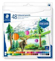 """STAEDTLER Színes ceruza készlet, hatszögletű, STAEDTLER """"Design Journey"""", 48 különböző szín"""