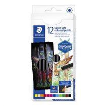 """STAEDTLER Színes ceruza készlet, hatszögletű, STAEDTLER """"Design Journey Super Soft"""", 12 különböző szín"""