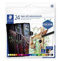 """STAEDTLER Színes ceruza készlet, hatszögletű, STAEDTLER """"Design Journey Super Soft"""", 24 különböző szín"""