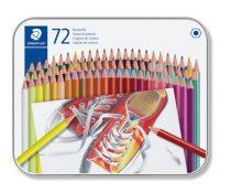 STAEDTLER Színes ceruza készlet, hatszögletű, fém dobozban, STAEDTLER, 72 különböző szín