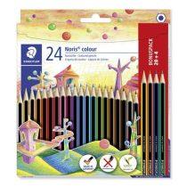 """STAEDTLER Színes ceruza készlet, hatszögletű, STAEDTLER """"Noris Colour"""", 20+4 különböző szín"""