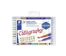 "STAEDTLER Kalligrafikus marker készlet, 2,0/3,5 mm, kétvégű, STAEDTLER ""Calligraph Duo"", 24 szín"