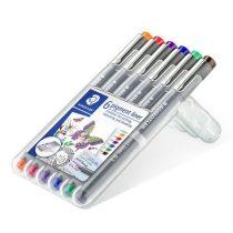 """STAEDTLER Tusfilc készlet, 0,3 mm, STAEDTLER, """"Pigment Liner"""", 6 különböző szín"""
