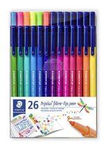 """STAEDTLER Rostirón készlet, 1 mm, STAEDTLER """"Triplus"""" 26 különböző szín"""