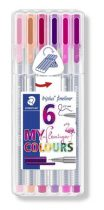 "STAEDTLER Tűfilc készlet, 0,3 mm, STAEDTLER ""Triplus Flamingo"", 6 flamingo szín"