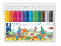 """STAEDTLER Filctoll készlet, 3 mm, vastag, STAEDTLER """"Noris Club"""", 12 különböző szín"""