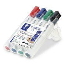 """STAEDTLER Táblamarker készlet, 2 mm, kúpos, STAEDTLER """"Lumocolor 351"""", 4 különböző szín"""