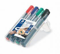 """STAEDTLER Alkoholos marker készlet, 2 mm, kúpos, STAEDTLER """"Lumocolor 352"""", 4 különböző szín"""