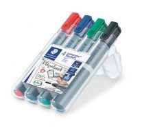 "STAEDTLER Flipchart marker, 2 mm, kúpos, STAEDTLER ""Lumocolor 356"", 4 különböző szín"