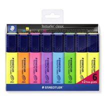 STAEDTLER Szövegkiemelő készlet, 1-5 mm, STAEDTLER, 6+2 különböző szín