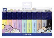 """STAEDTLER Szövegkiemelő készlet, 1-5 mm, STAEDTLER """"Textsurfer Classic Pastel"""", 10 különböző szín"""