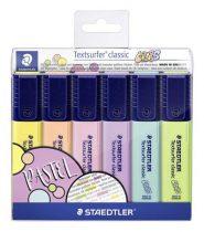 """STAEDTLER Szövegkiemelő készlet, 1-5 mm, STAEDTLER """"Textsurfer Classic Pastel"""", 6 különböző szín"""