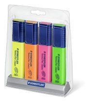 STAEDTLER Szövegkiemelő készlet, 1-5 mm, asztali, STAEDTLER, 4 különböző szín