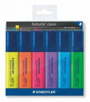 """STAEDTLER Szövegkiemelő készlet, 1-5 mm, STAEDTLER """"Textsurfer Classic"""", 6 különböző szín"""