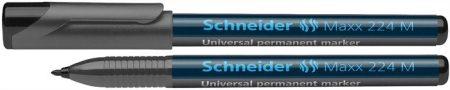 """SCHNEIDER Alkoholos marker, OHP, 1 mm, SCHNEIDER """"Maxx 224 M"""", fekete"""