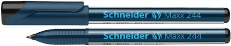 """SCHNEIDER Alkoholos marker, CD/DVD, 0,7 mm, SCHNEIDER """"Maxx 244"""", fekete"""