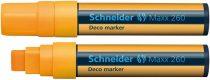 """SCHNEIDER Krétamarker, 5-15 mm, SCHNEIDER """"Maxx 260"""", narancssárga"""