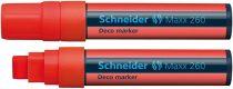 """SCHNEIDER Krétamarker, 5-15 mm, SCHNEIDER """"Maxx 260"""", piros"""