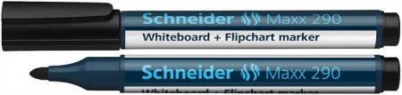 "SCHNEIDER Tábla- és flipchart marker, 2-3 mm, kúpos, SCHNEIDER ""Maxx 290"", fekete"