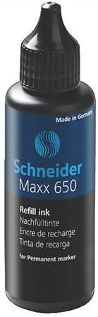 """SCHNEIDER Utántöltő palack """"230"""", """"233"""", és """"280"""" típusú alkoholos markerhez, 50 ml, SCHNEIDER """"650"""", fekete"""