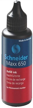 """SCHNEIDER Utántöltő palack """"230"""", """"233"""", és """"280"""" típusú alkoholos markerhez, 50 ml, SCHNEIDER """"650"""", piros"""