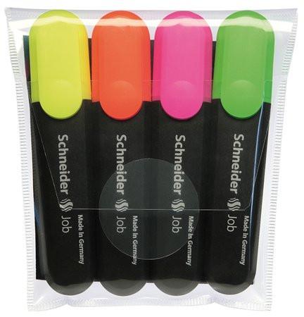 """SCHNEIDER Szövegkiemelő készlet, 1-5 mm, SCHNEIDER """"Job 150"""", 4 különböző szín"""