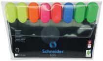 "SCHNEIDER Szövegkiemelő készlet, 1-5 mm, SCHNEIDER ""Job 150"", 6+2 szín"