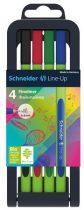 "SCHNEIDER Tűfilc készlet, 0,4 mm, SCHNEIDER ""Line-Up"", 4 különböző szín"