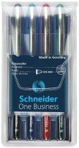 """SCHNEIDER Rollertoll készlet, 0,6 mm, """"SCHNEIDER """"One Business"""", 4 szín"""
