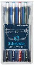 """SCHNEIDER Rollertoll készlet, 0,5 mm, SCHNEIDER """"One Hybrid C"""", 4 szín"""