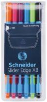 """SCHNEIDER Golyóstoll készlet, 0,7 mm, kupakos, SCHNEIDER """"Slider Edge XB"""", vegyes színek"""