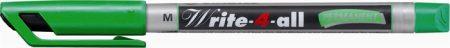 """STABILO Alkoholos marker, 1 mm, kúpos, STABILO """"Write-4-all"""", zöld"""