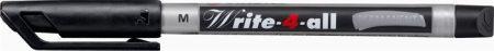 """STABILO Alkoholos marker, 1 mm, kúpos, STABILO """"Write-4-all"""", fekete"""