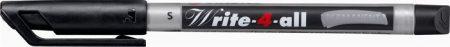 """STABILO Alkoholos marker, 0,4 mm, kúpos, STABILO """"Write-4-all"""", fekete"""