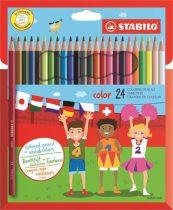 """STABILO Színes ceruza készlet, hatszögletű, STABILO """"Color"""", 24 különböző szín"""