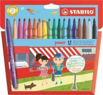 """STABILO Filctoll készlet, 2 mm, STABILO """"Power"""", 18 különböző szín"""