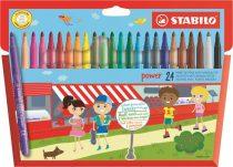 """STABILO Filctoll készlet, 2 mm, STABILO """"Power"""", 24 különböző szín"""