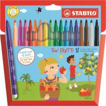 """STABILO Filctoll készlet, illatos, STABILO """"Trio Frutti"""", 18 különböző szín"""