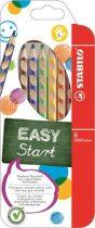 """STABILO Színes ceruza készlet, háromszögletű, balkezes, STABILO """"EasyColours"""", 6 különböző szín"""