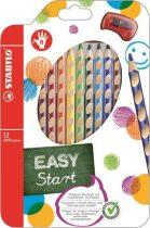 """STABILO Színes ceruza készlet, háromszögletű, jobbkezes, STABILO """"EasyColours"""", 12 különböző szín"""