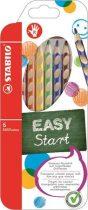"""STABILO Színes ceruza készlet, háromszögletű, jobbkezes, STABILO """"EasyColours"""", 6 különböző szín"""