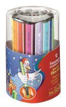 """STABILO Filctoll készlet, 1,5-2 mm, rugós hegy, STABILO """"Trio Scribbi"""", 12 különböző szín"""