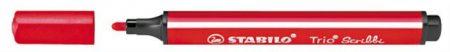 "STABILO Filctoll, 1,5-2 mm, rugós hegy, STABILO ""Trio Scribbi"", piros"