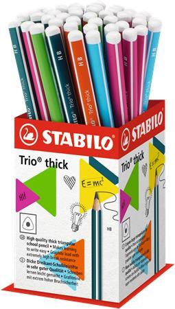 "STABILO Grafitceruza display, HB, háromszögletű, vastag, STABILO ""Trio thick"""