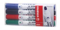 """STABILO Táblamarker készlet, 2,5-3,5 mm, kúpos, STABILO """"Plan"""", 4 különböző szín"""