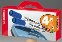 """STABILO Táblamarker készlet, 2,5-3,5 mm, kúpos, szivaccsal, STABILO """"Plan"""", 4 különböző szín"""