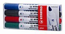 """STABILO Táblamarker készlet, 1-5 mm, vágott, STABILO """"Plan"""", 4 különböző szín"""