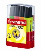 """STABILO Szövegkiemelő készlet, 2-5 mm, STABILO """"Boss Parade"""", 4 különböző szín"""