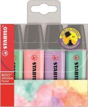 """STABILO Szövegkiemelő, 2-5 mm, STABILO """"BOSS original Pastel"""", 4 különböző szín"""